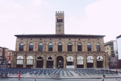 Piazza Maggiore, Bologna Royalty Free Stock Photography