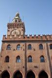 Piazza Maggiore - Orologio Municipio Royaltyfria Foton