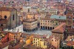 Piazza Maggiore widok z lotu ptaka Obrazy Royalty Free