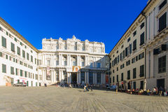 Piazza Matteotti, Genua royalty-vrije stock fotografie