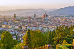 Piazza Michaelangelo. Taken from the Highest point of florence, Piazza Michaelangelo Stock Image