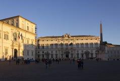 Piazza Montecitorio in Rome Stock Photo
