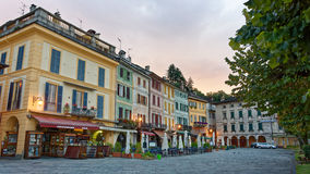 Piazza Motta at San Giulio on Lake Orta, Italy Stock Images