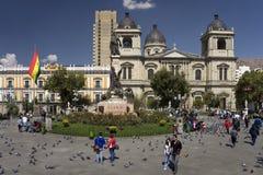 Piazza Murillo - La Paz - Bolivien Lizenzfreie Stockbilder