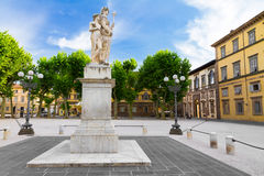 Piazza Napoleone in Lucca, Italy Royalty Free Stock Images