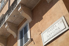 Piazza Navona. (a city square in Rome royalty free stock image