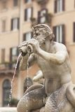 Piazza Navona. Detail of a mythological figure on Fontana del Moro in Piazza Navona, Famous square filled with fountains in the heart of Rome, capital of Italy Stock Photos