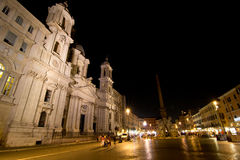 Piazza Navona. By night (Rome,Italy Royalty Free Stock Photography