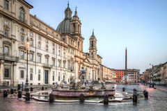 Piazza Navona Stock Foto's