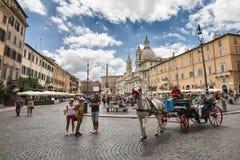 Piazza Navona Royaltyfria Foton