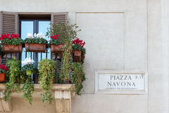 Piazza Navona Fotografia Stock