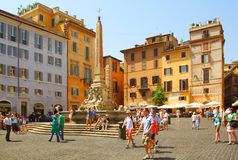 Piazza Navona Royaltyfria Bilder