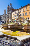 Piazza Navona. Fountain on famous square Piazza Navona in Rome, Italy royalty free stock photography