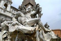 Piazza Navona. Fontana dei Quattro Fiumi in Piazza Navona Stock Photos
