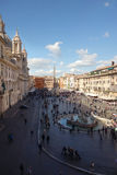 Piazza Navona aerial view Royalty Free Stock Image