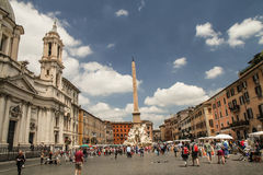 Piazza Navona animation Stock Photo