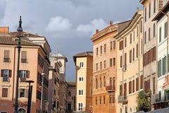 Piazza Navona Belle vecchie finestre a Roma (Italia) Fotografia Stock