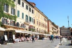 Piazza Navona con i ristoranti Immagine Stock Libera da Diritti