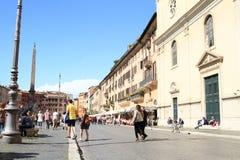 Piazza Navona con i ristoranti Immagine Stock