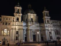 Piazza Navona in de mist Royalty-vrije Stock Foto