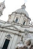 Piazza Navona, dei Fiumi, Roma di Fontana Fotografia Stock