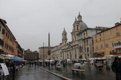 Piazza Navona di Roma in Italia Fotografie Stock