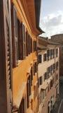 Piazza Navona facade, Rome, Italy. Facade of colorful buildings in Piazza Navona in Rome, Italy royalty free stock image