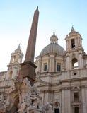 Piazza Navona fontanna, Rzym Obrazy Royalty Free