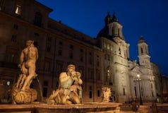 Piazza Navona Fountain. Rome, Italy Royalty Free Stock Photos