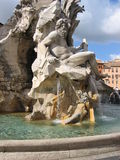 Piazza Navona Fountain. In Rome - Italy Royalty Free Stock Images