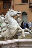 Piazza Navona Fountain of Neptun. Royalty Free Stock Photos
