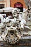 Piazza Navona Fountain of Neptun. Stock Image