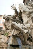 Piazza Navona Fountain, Rome Royalty Free Stock Photo