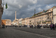 Piazza navona. Fountain in Rome in the historic center Stock Images