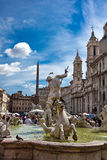 Piazza Navona fountain in Rome Italy Royalty Free Stock Photography