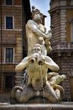 Piazza Navona fountain in Rome Italy Royalty Free Stock Photo