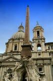 Piazza Navona i Rome, Italien Royaltyfria Bilder