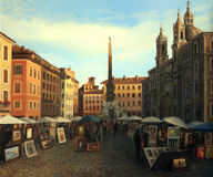 Piazza Navona In Rome Royalty Free Stock Photography