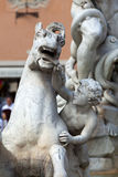 Piazza Navona, Neptune Fountain in Rome, Royalty Free Stock Photos