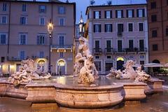 Piazza Navona, Neptune, Rome Royalty Free Stock Photography
