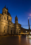 Piazza Navona at night Royalty Free Stock Images