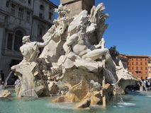 Piazza Navona - One  of the fountains Stock Photography