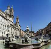 Piazza Navona panoramic view Stock Photo