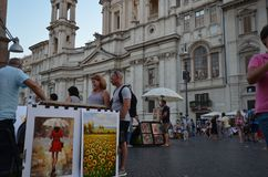 Piazza Navona, public space, town, urban area, street stock photos