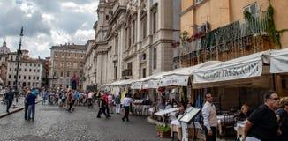 The Piazza Navona stock image
