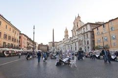 Piazza Navona a Roma, Italia Fotografia Stock Libera da Diritti