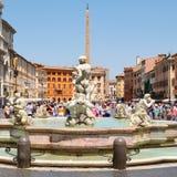 Piazza Navona a Roma un bello giorno di estate Immagini Stock