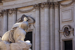 Piazza Navona, Rome. Detail of architecture in Piazza Navona, Rome, Italy stock photography