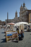 Piazza Navona, Rome Photo libre de droits