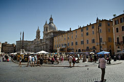 Piazza Navona at Rome Royalty Free Stock Photo